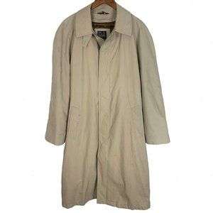 Jos. A Bank Tan Lined Year Round Raincoat Trench